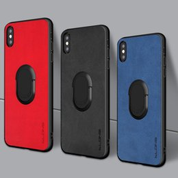 housing bracket Australia - Fashion For iPhone 8 7 Plus X XS Max cover with Metal Finger Ring Bracket for iPhone 6 7Plus case Car Holder housing