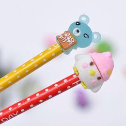 $enCountryForm.capitalKeyWord UK - Cute Bear Donuts Pen Cap Funny Cartoon TPR Pen Decoration Desktop Car Props toys Small Grift For Children Kids