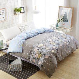 $enCountryForm.capitalKeyWord Australia - Home textile flower duvet cover new arrived bed quilts cover 150*200cm single extra comforter covers hotel grey flower bed linen