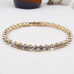 $enCountryForm.capitalKeyWord Australia - Korea Style All Match Fashion Beautiful Ladies Friendship Bracelet Gold and Silver Plated Crystal Bracelet for Sale