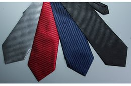 Wholesale Manufacturers business suits professional lazy tie easy to pull one color diagonal striped men s tie in stock