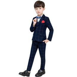 Spring Autumn Period Clothing Australia - Kids Suits Spring Autumn Period Leisure Boys Suit Woolly Host Dress Costumes Coat Pants Vest Sets Party Clothes