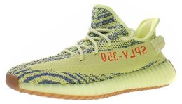 Chinese  Mens Semi Frozen Yellow Kanyewest Kanye West Trainers for Men's Sneakers Male Sneaker Women Running Shoes Womens Female Sports Chaussures manufacturers