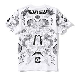 Men dragon shirt chinese online shopping - Evisu Designer T Shirts Evisu Black White Mens Designer T Shirts Top Chinese Dragon Short Sleeve Size M XXL