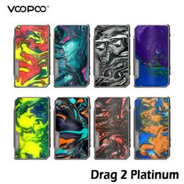 Discount box mod tc - VOOPOO Drag 2 Platinum 177W TC Box MOD 510 Thread Mod With Non-Fading & Scratch-proof Platinum Frame 100% Authentic