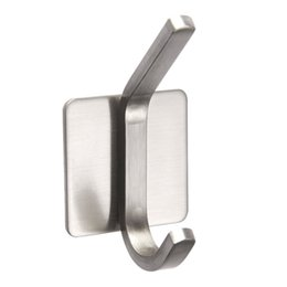 f4964e121df 4Pcs Holder Self Adhesive Bathroom Powerful No Drilling Strong Load  Capacity Stainless Steel Wall Mount Towel Hats Hooks Hanger