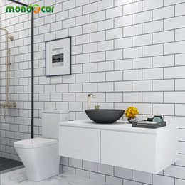 $enCountryForm.capitalKeyWord Australia - Plastic Peel and Stick Wall Papers Home Decor Bathroom Kitchen PVC Mosaic Self Adhesive Wallpaper Waterproof Tile Stickers