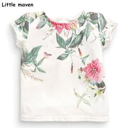 $enCountryForm.capitalKeyWord Australia - Children Summer Baby Girls Clothes Short Sleeve Flower Print T Shirt Cotton Brand Tee Tops 50971