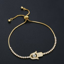 $enCountryForm.capitalKeyWord Australia - Fashion Silver Chain Gold Color Crystal Diamonds Bracelet Adjustable Simple Bracelets Hip Hop Palm Bracelet Woman Wedding Party Jewelry
