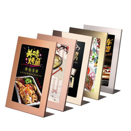 $enCountryForm.capitalKeyWord Australia - A4 Metal Frame L Shape Label Display Menu Stand Sign Frame A4 Sign Holder Stand POP Advertising Poster Display Rack Photo Frame