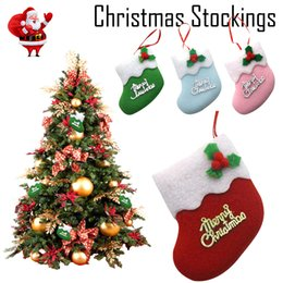 $enCountryForm.capitalKeyWord NZ - Merry Christmas Stocking Mini Sock Santa Claus Candy Gift Bag Xmas Tree Hanging ornaments decor for the New year 2019 HOT
