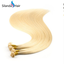 $enCountryForm.capitalKeyWord Australia - Silanda Hair Blonde #613 Straight Hot Fusion Keratin Bonded Flat Tip Remy Hair Extensions 1g s 24 Inch 100 strands pack Free Shipping