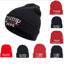$enCountryForm.capitalKeyWord Australia - Trump 2020 Beanies Knit Skull Caps Make America Great Again Letters Embroidered Skiing Snood Hats Men Women Autumn Winter Warm Cap B81301