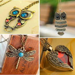 $enCountryForm.capitalKeyWord Australia - New Fashion Statement Owl Crystal Necklaces Pendants For Women As A Gift,gold & Silver Chain Long Jewelry,collier Female