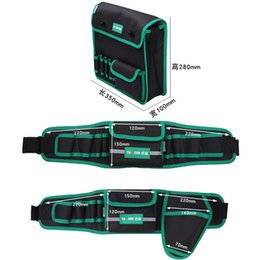 Discount electrician pouches - Multifunction Durable Waterproof Canvas Tool Bag Waist Belt Bag Electrician Repair Tool Pouch Organizer