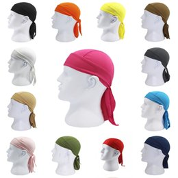 Wholesale Cycling Pirate Cap Outdoor Head Scarf Bicycle Running Bandanas Anti Sweat UV Headwears Quick Drying Absorb Sweat Headband Hip Hop Hats M415F