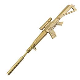 1 PC Engraçado Kawaii Canetas Caneta Rollerball Material Escolar Papelaria Criativa Arma de Ouro Forma Material de Papelaria Escolar