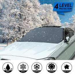 car windscreen cover Canada - Car Front Windscreen Cover Automobile Magnetic Sunshade Cover Car Windshield Snow Sun Shade Waterproof Protector 210*120cm