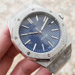 Bling glasses online shopping - AAA Luxury Watch For Men Automatic movement Blue dial ROYAL OAK series mens Bling Shinning watch Stainless Steel
