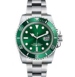 Men sports watches orange online shopping - Ceramic Bezel Mens New Green Men Mechanical Stainless Steel Luxury Automatic Movement Watch Sports Self wind Watches Wristwatches btime