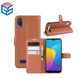 Wholesale doogee mobile phones for sale - Group buy For Doogee Y8C Litchi Grain PU Leather Flip Wallet Case Mobile Phone Cover Electronic Goods