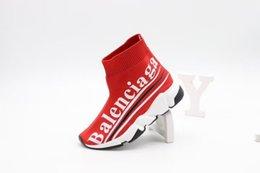 LittLe girLs sLips online shopping - Child shoe red color sport boots little boy girl slip on hiking shoe Black basketball soccer boots Eu