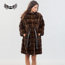 f14f0822494 BFFUR Women Jacket Genuine Leather 2018 New Arrival Mink Coat For Ladies  Real Mink Fur Parka Plus Size Karakul Fashion Clothing D190111205