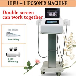 Discount hifu portable home machine - HIFU LIPOSONIX Ultrasound Face Cleaner Liposonix body slimming machine hifu portable home ultrasound 2 years warranty