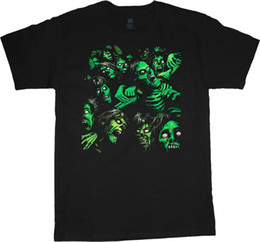 4d06ed72 Plus Size Halloween T Shirts UK - Big men's t-shirt zombie pile halloween  decal