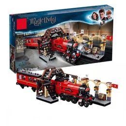 $enCountryForm.capitalKeyWord Australia - New Fit Magic Academy Ron Hermione Express Set Train Building Blocks Bricks Kids Boys Toys For Christmas Gift J190722