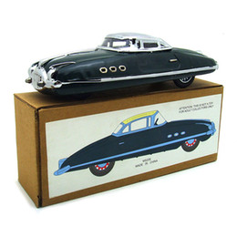 Venta al por mayor de 1PC / Box Clockwork Car Toy Tinplate Tin Childhood Winder Cars Vintage Handmade Crafts Collection Figure Metal Gift Wind Up Toys SH190913
