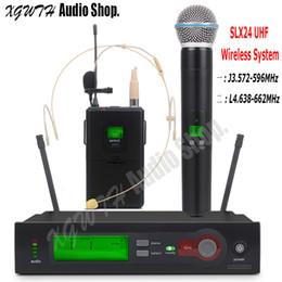 $enCountryForm.capitalKeyWord NZ - SLX14 UHF Wireless Microphone System Super Cardioid Handheld Bodypack Lapel Headset Mic for Stage Karaoke DJ