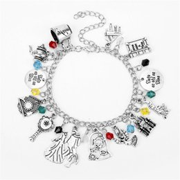 $enCountryForm.capitalKeyWord NZ - 10pcs Lot Fairy Tales Movie DIY Charm Pendants Bracelets Once Upon A Time Tree Of Tree Magic Mirror Musical Note Crown Bangle Bracelet
