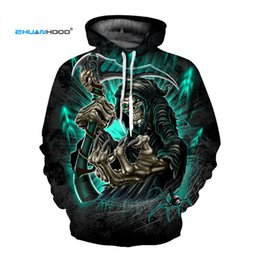 hip hop belts for men Australia - EHUANHOOD Skeleton Skull Print Mens Hoodies 3D Sweatshirts for Menclothes 2018 Cool Hip Hop Men's Sportswear Thin Man JacketMX190830