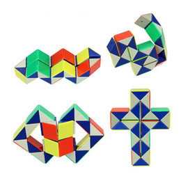 Block Cube Australia - 24 Blocks Snake Magic Cube Twist Jigsaw Puzzle Speed Magic Ruler 3D Snake Toys Children Educational Toys Special Christmas Gifts