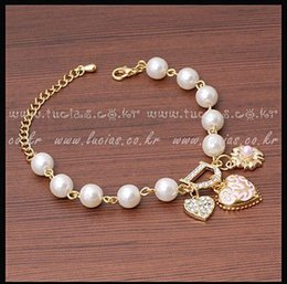 $enCountryForm.capitalKeyWord Australia - Hot Fashion Unlimited Bangle Bracelets Charm Heart Flower Simulated Pearl Crystal D Letter Beaded Bracelet For Women Jewelry