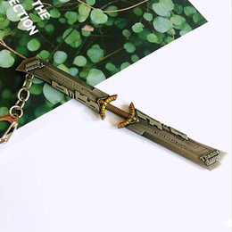 Toy Swords Wholesale NZ - Avengers Endgame Keychain 2019 New Avengers 4 Thanos weapon Double-edged Sword alloy Key Chain toys