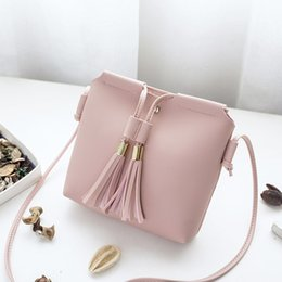 $enCountryForm.capitalKeyWord Canada - Cheap Individuality Simple Fashion Ladies PU Leather Handbag Tassel Bucket Shoulder Bag Women Mini Coin Keys Phone Messenger Bag Bolsa