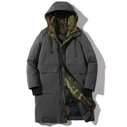 Men jacket winter camouflage long coat men white duck down jacket windproof  thick warm Russian winter coat doudoune homme fbb9e19a0