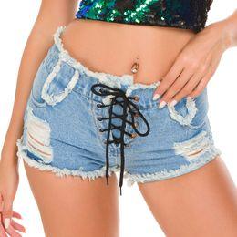 $enCountryForm.capitalKeyWord Canada - Sexy Women Jeans Denim Shorts Bikini beach swimwear summer Shorts High Waist Hole Hollow Strappy Night Club super short hot pants trousers