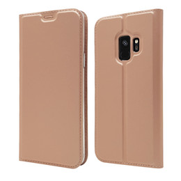 Note Flip Wallet Australia - PU Leather Wallet Case Card Slot Holder Flip Cover For Samsung Galaxy S10 S10+ S10e S9 Plus S8 S7 Edge Note 9 8