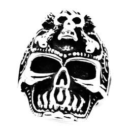 $enCountryForm.capitalKeyWord UK - FANSSTEEL STAINLESS STEEL punk vintage mens womens JEWELRY cross bone GHOST SKULL SIGNET RING MEDALLION SKELETON GOTHIC BIKER RING FSR20W61