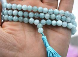 Mala Beads Free Shipping Australia - FREE SHIPPING ++ 6mm stone Buddhist Natural new 108 Prayer Beads Mala Bracelet Necklace