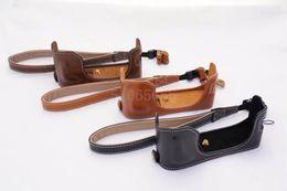 $enCountryForm.capitalKeyWord Australia - Leather Camera Bag Bottom Case for Fuji XA10 XA2 Xm1 XE1 XE2 XT10 XT20 XA3 X70 XT1 XT2 Half Body Cover With Hand Strap