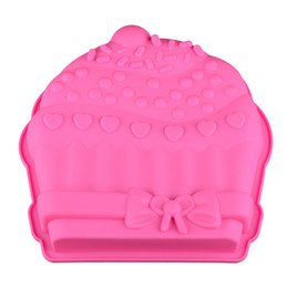 Silicone Christmas Fondant Mould UK - Pink Jelly moulds cute Christmas hat cake molds fondant tools DIY lolipop candy moulds Children handmade chicken tool