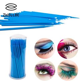 917c77d2885 zwellbe 100pcs pack Disposable Makeup Brushes Swab Durable Micro Mascara Brush  Eyelash Extension Individual Lash Removing Tools