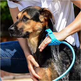 hose bath Australia - Pet Shower Sprayer Pet Bathing Tool Multi-Functional Bath Hose Sprayer and Scrubber in One, Dog Cat Grooming Bath Massager JXW174