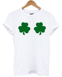 026842c13 Shamrock Boobs T Shirt Leprechaun St Patrick's Day Funny Women Girl Joke  IrishFunny free shipping Unisex Casual gift