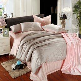 $enCountryForm.capitalKeyWord Australia - Svetanya Silk bedding set King Queen Double size polyester super soft bedclothes Duvet Cover sheets pillowcase 4pc Linens