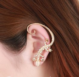 Lizard Stud Earrings Australia - hot-selling earrings Punk Rock Crystal Jewelry Accessories New Fashion lizard stud earrings Silver gold Color gekkonidae -P